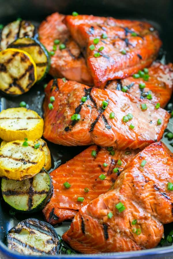 Grilled maple salmon recipe video natashaskitchen this grilled maple salmon recipe is a keeper maple salmon is flaky juicy and ccuart Choice Image