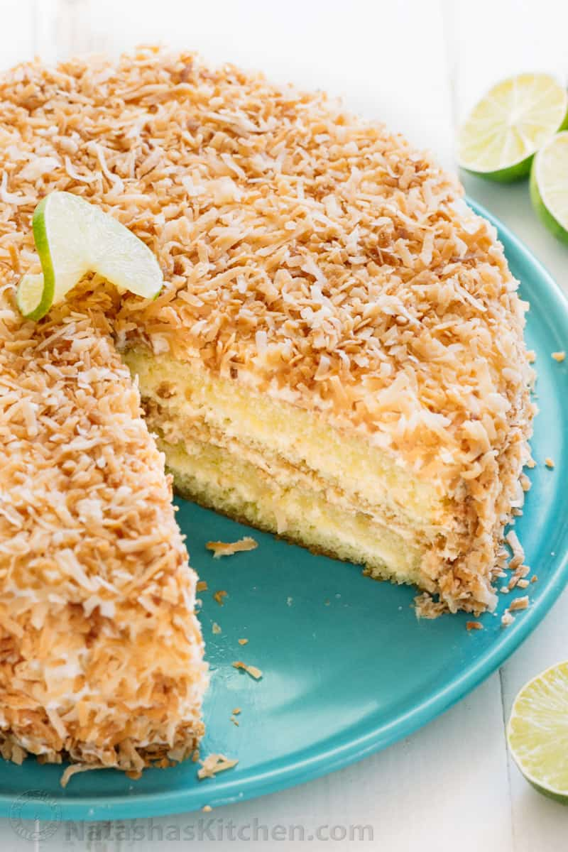 Key Lime Coconut Cake (VIDEO)