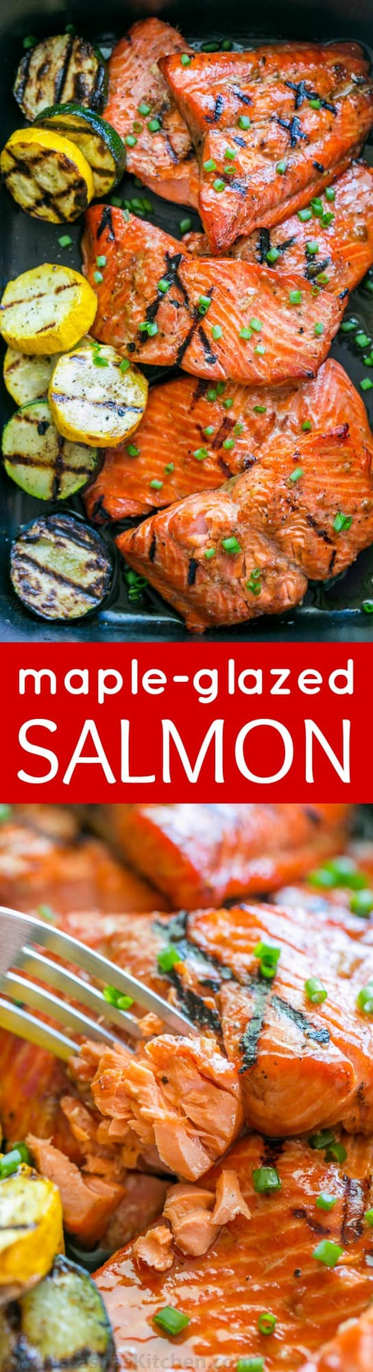 This Grilled Maple Salmon Recipe Is A Keeper! Maple Salmon Is Flaky, Juicy  And