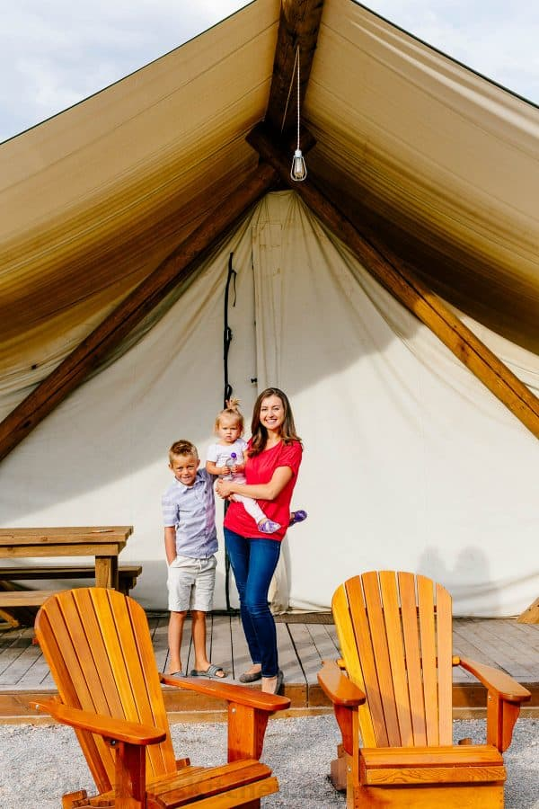 What is glamping? Find out what glamping really is. You'll never look at camping the same way again! | natashaskitchen.com