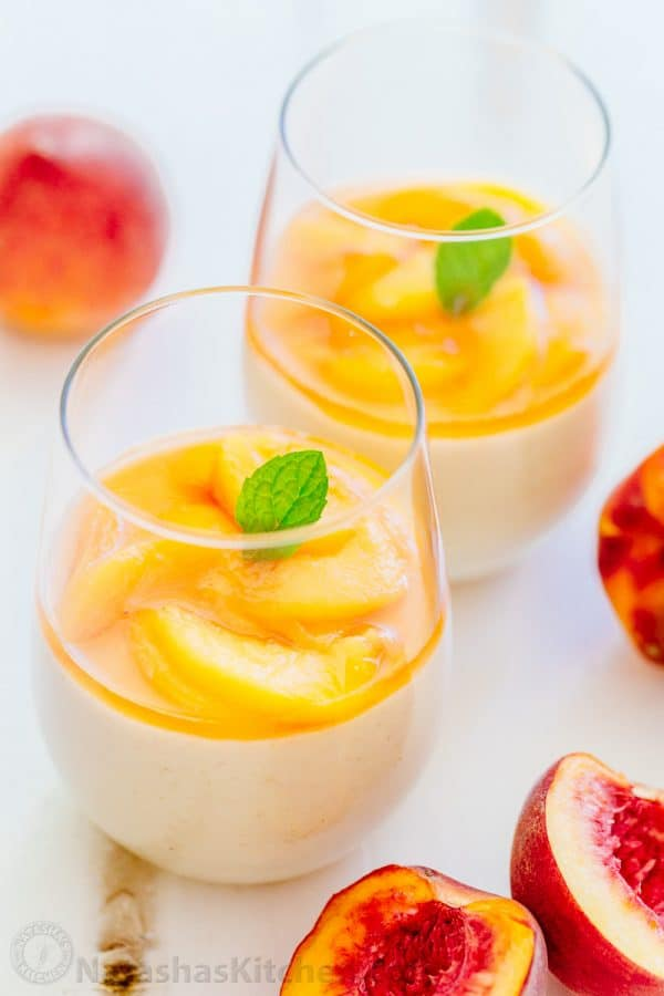 This peach mousse is loaded with fresh peaches - more than 1 lb goes into making this peach cream dessert so it actually tastes like peaches! | natashaskitchen.com