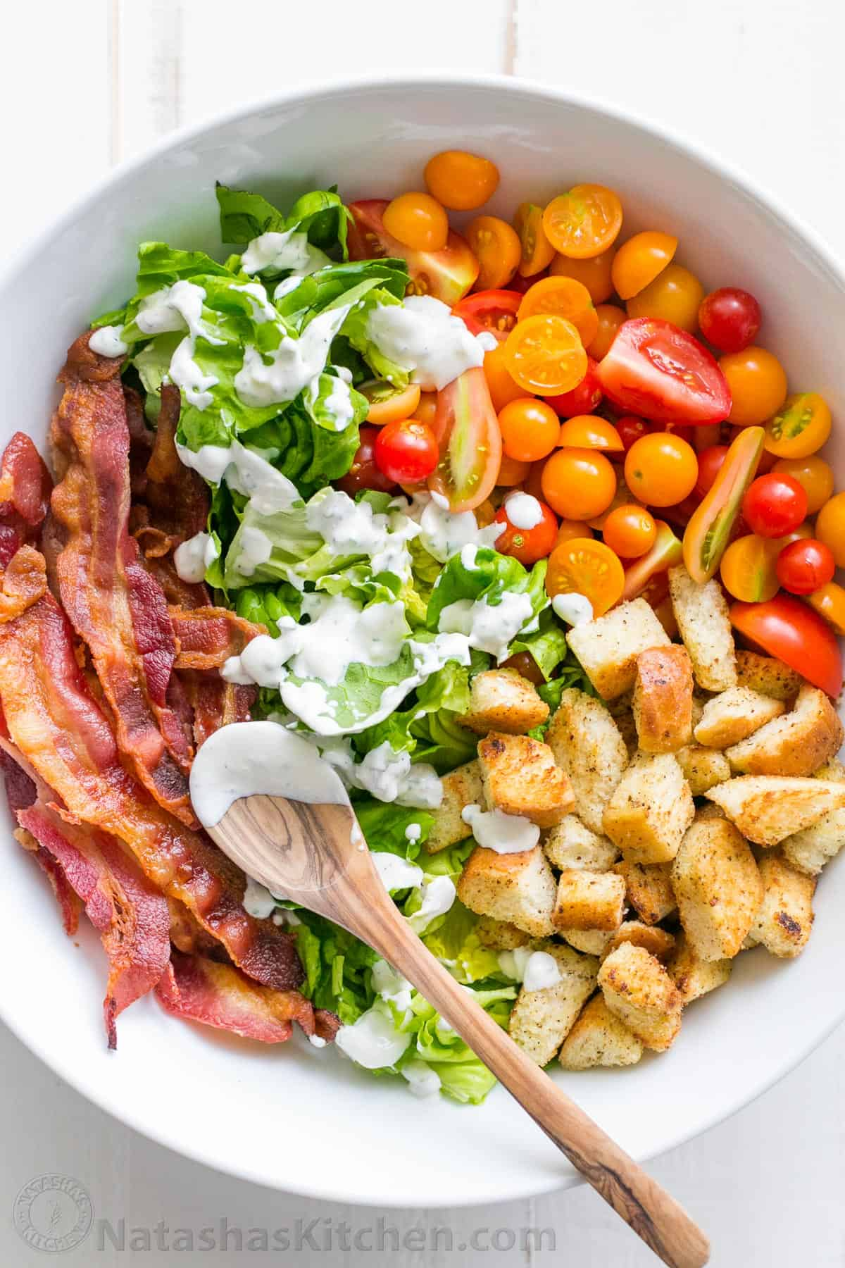 BLT Salad Recipe + Best BLT Salad Dressing ...