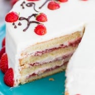 This fresh strawberry cake is definitely a reader favorite! Completely charming, not overly sweet and tastes bakery quality. Video tutorial makes it easy! | natashaskitchen.com