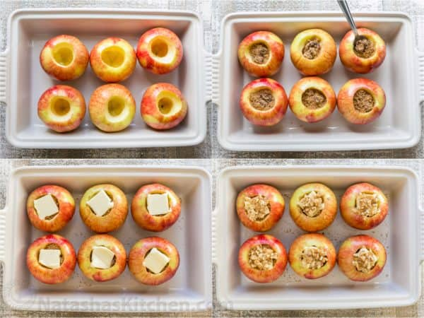 How to bake apples in casserole dish