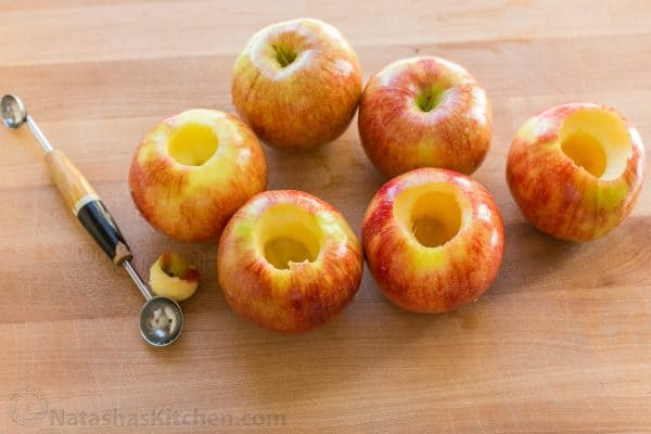 How to core an apple for baked apples recipe