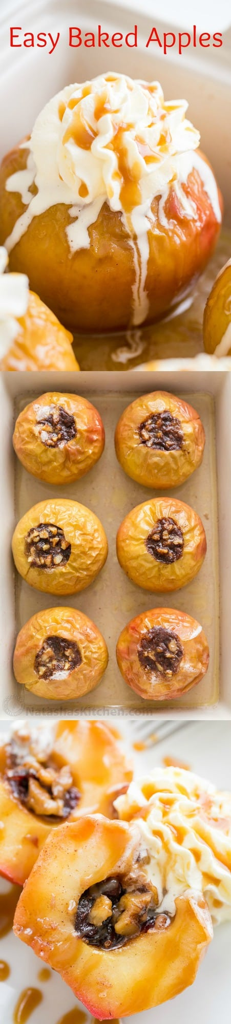 Baked Apples are a real treat and so easy! You will flip over how amazing your house smells as they bake. These baked apples taste like apple pie...Mmm!! | natashaskitchen.com
