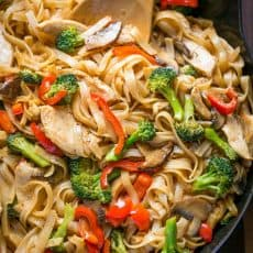 A quick and easy stir fry recipe thats done in 30 min! It's perfect for busy weeknights and healthier than takeout! Watch the easy stir fry video recipe. | natashaskitchen.com