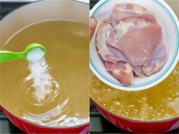 How to make creamy chicken noodle soup with chicken thighs