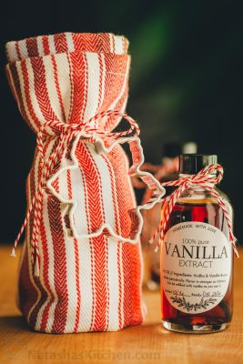 Homemade Vanilla Extract with just 2 ingredients is easy, beautiful and a great holiday gift idea! | natashaskitchen.com