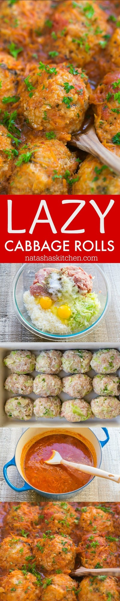 This lazy cabbage rolls recipe gives you the same great flavors of stuffed cabbage with much less effort. Lazy cabbage rolls are so juicy and comforting | natashaskitchen.com