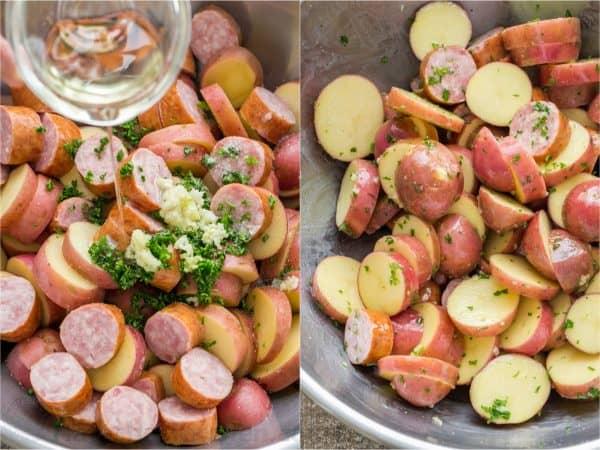 Roasted Potatoes And Kielbasa One Pan Recipe