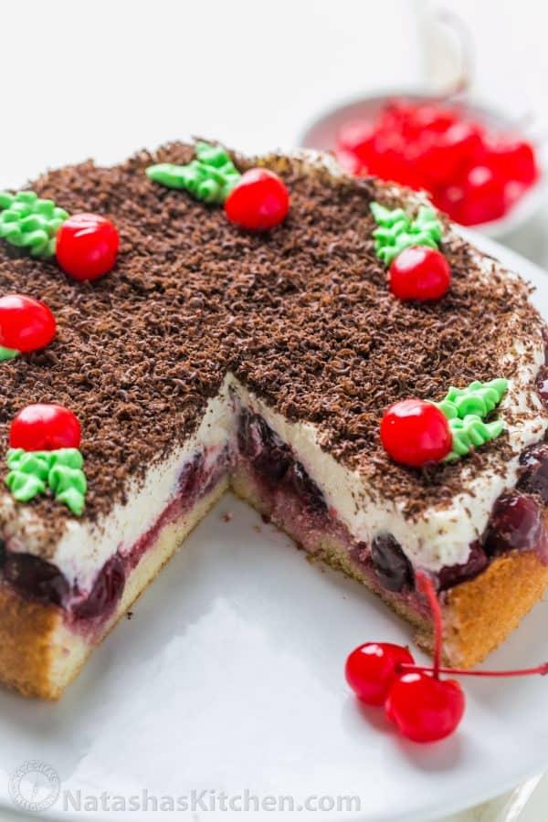Cherry Christmas Cake, Cherry Cake - NatashasKitchen.com