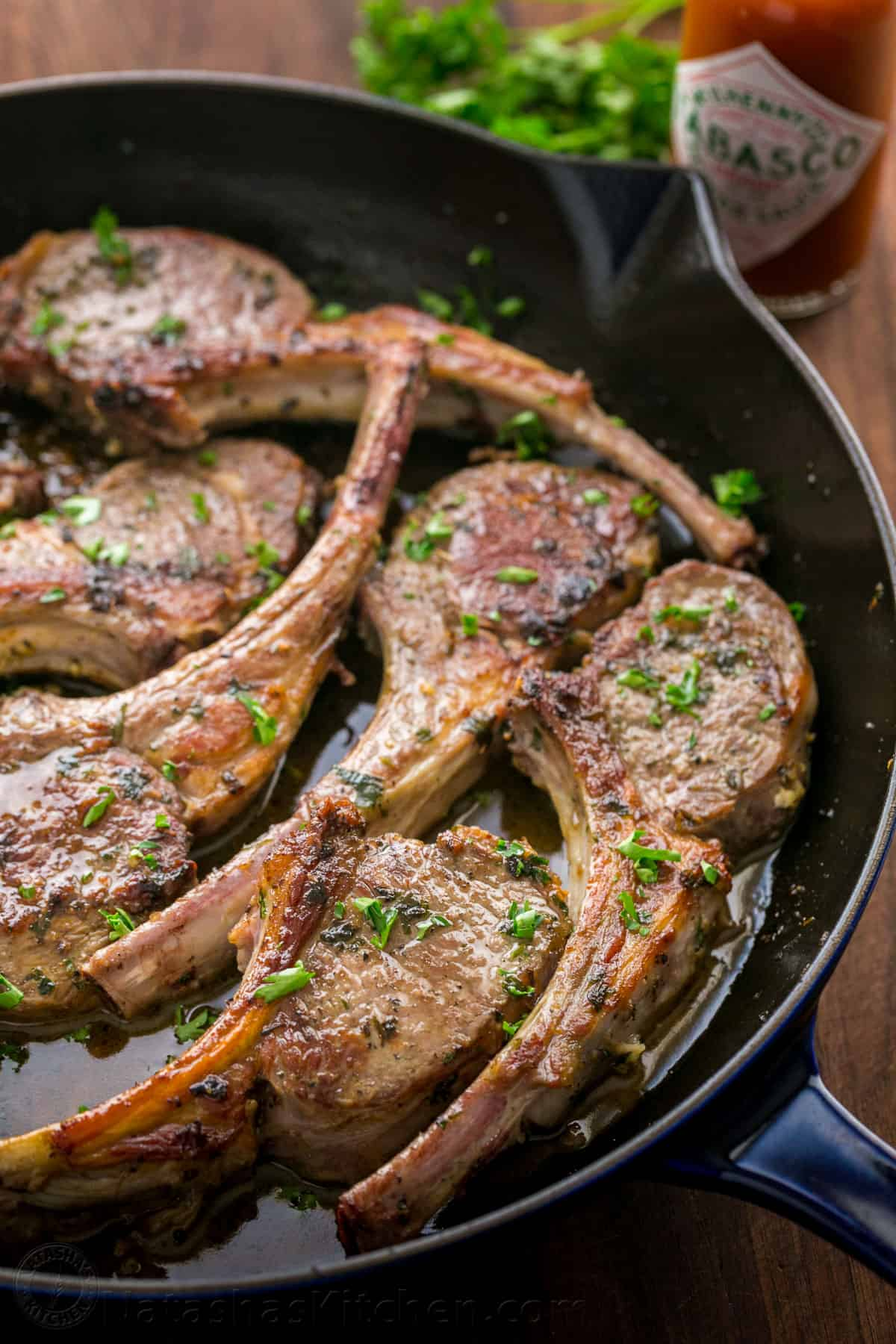 Garlic and Herb Crusted Lamb Chops Recipe - NatashasKitchen.com