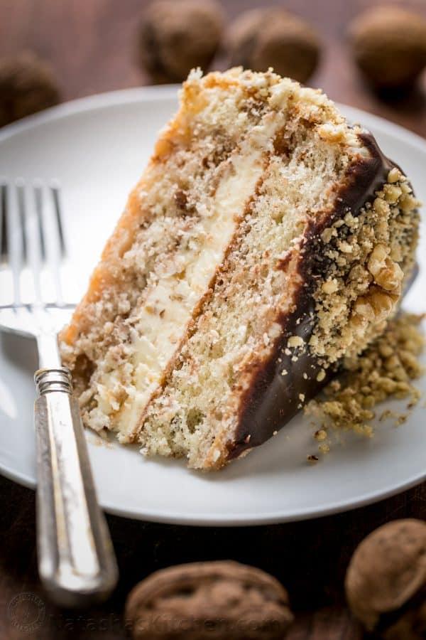 Royal Walnut Cake Video Recipe Natashaskitchen