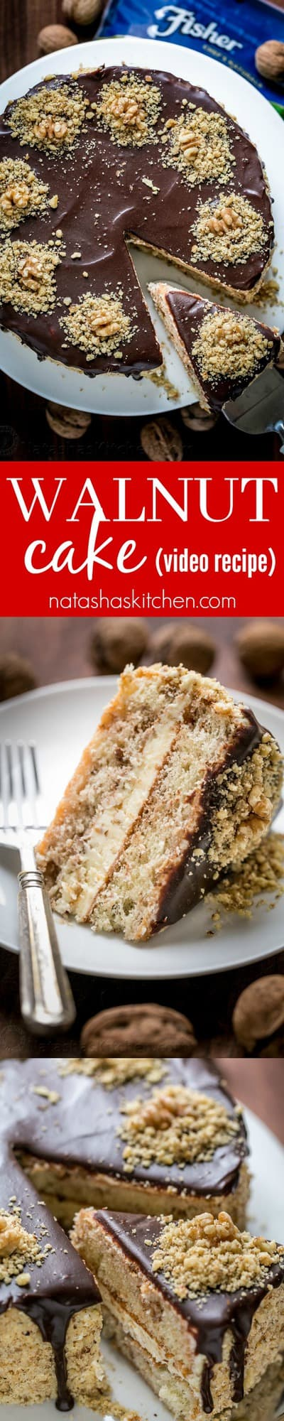 Royal Walnut Cake is beautiful and delicious! The Russian buttercream frosting will surprise you. Everything about this walnut cake is good! (Video Recipe) YOU CAN DO THIS! | natashaskitchen.com