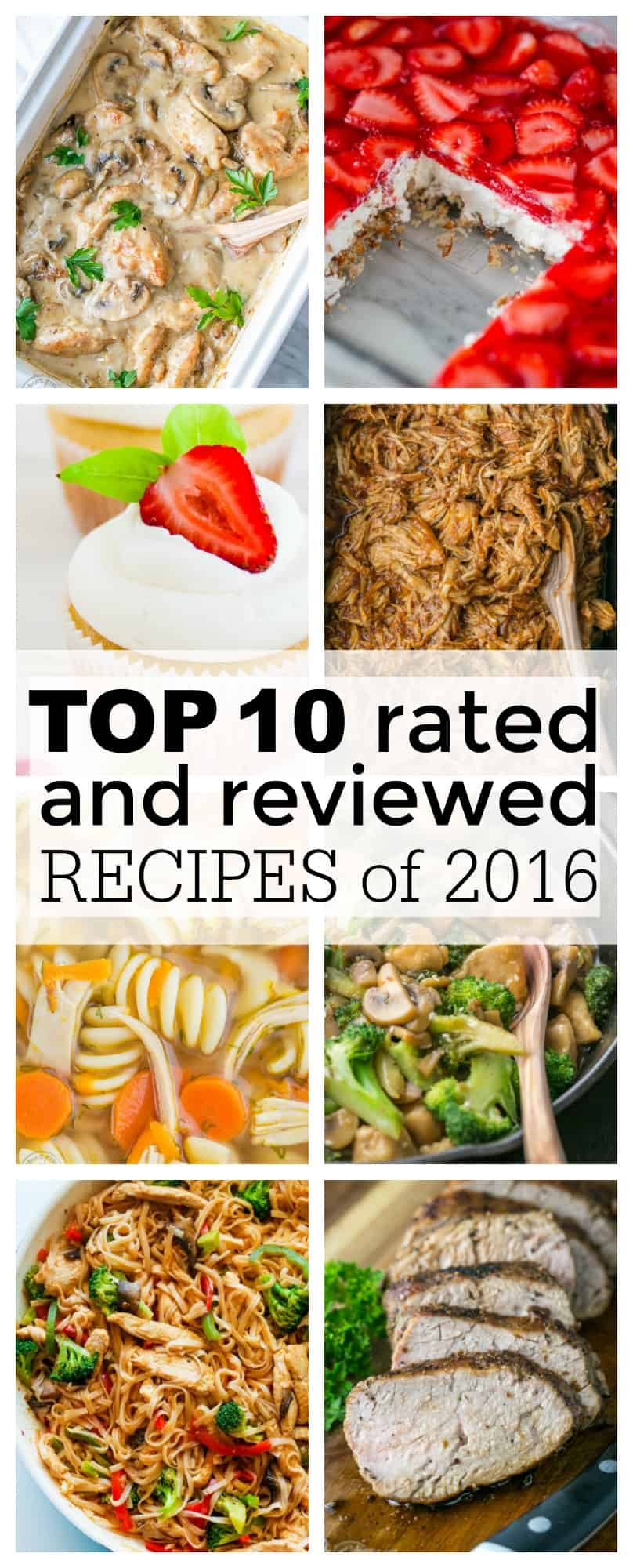 Top 10 Recipes of 2016. Fail proof, best recipes you'll make over and over! That's exactly what this is - most popular, best reviewed, reader favorites! | natashaskitchen.com