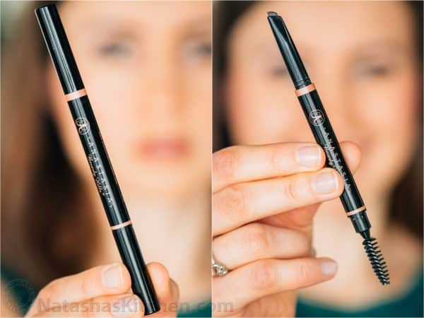 Two photos of Anastasia Brow Definer one opened and one closed