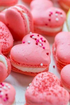 Heart Macarons With Lemon Buttercream Video