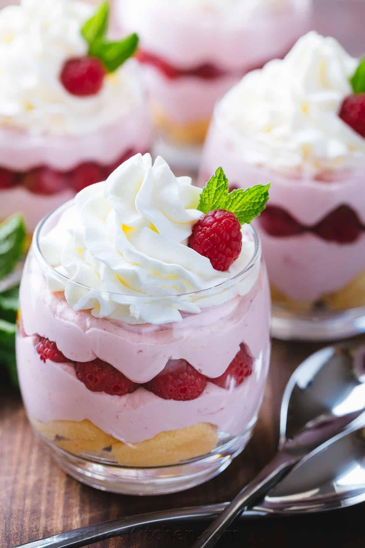 Easy Dessert Recipes Raspberry Mousse Cups Video Recipe Natashaskitchen Com