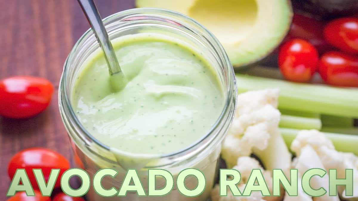Avocado Ranch Dressing And Dip Video Recipe