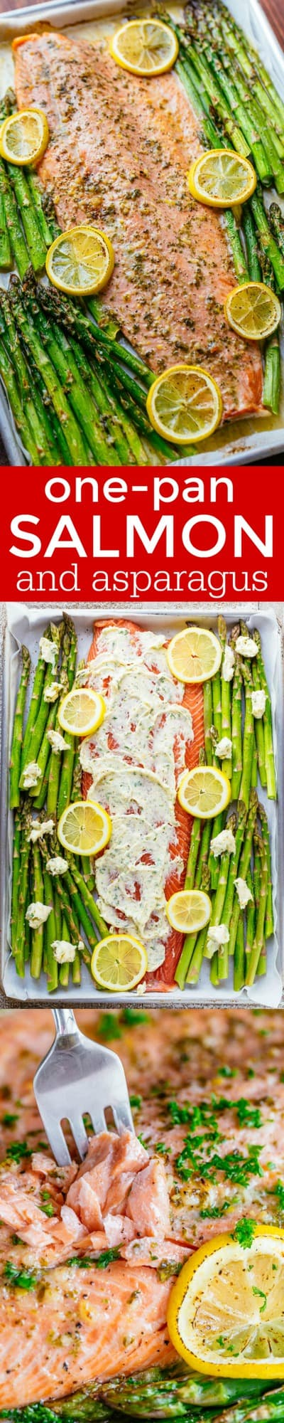 One Pan Salmon And Asparagus With Garlic Herb Butter Is Quick And Easy (25  Minute
