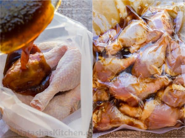 These baked honey glazed chicken drumsticks are finger-lickin' good! The honey-soy glaze makes these juicy chicken drumsticks so flavorful and irresistible | natashaskitchen.com