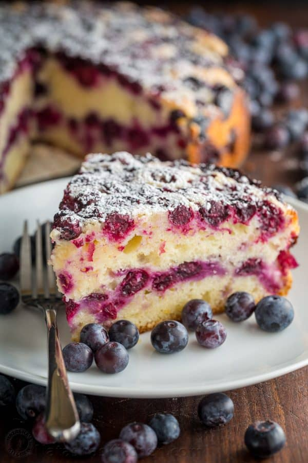 Lemon Cake is so moist and soft. Every bite of this blueberry cake ...