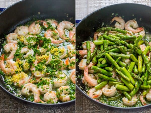 Shrimp Scampi Pasta with Asparagus (VIDEO) - NatashasKitchen.com