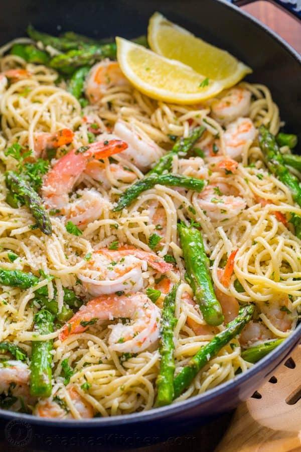 Healthy shrimp and asparagus pasta recipes