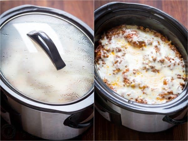 cooking lasagna in a slow cooker