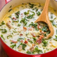 Zuppa Toscana in soup pot