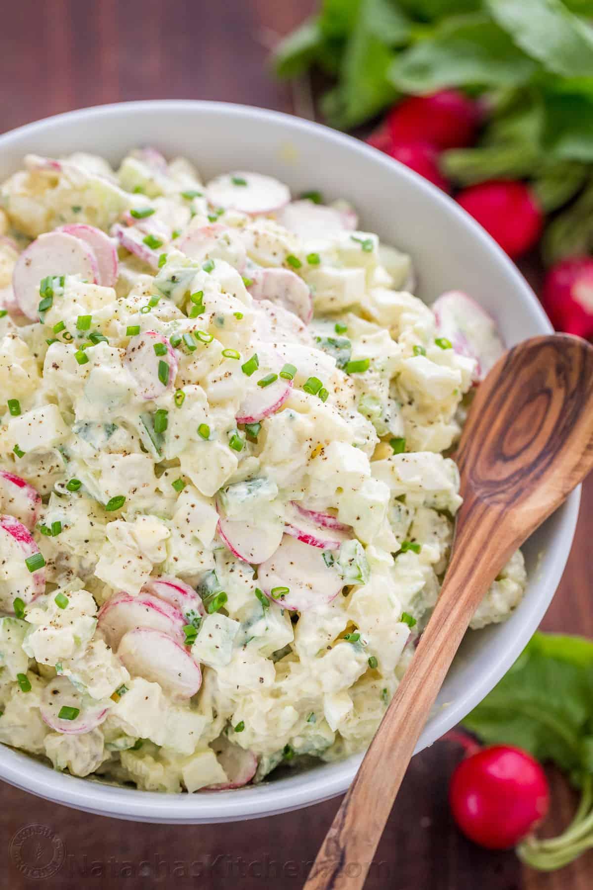Creamy Potato Salad Recipe Natashaskitchen Com