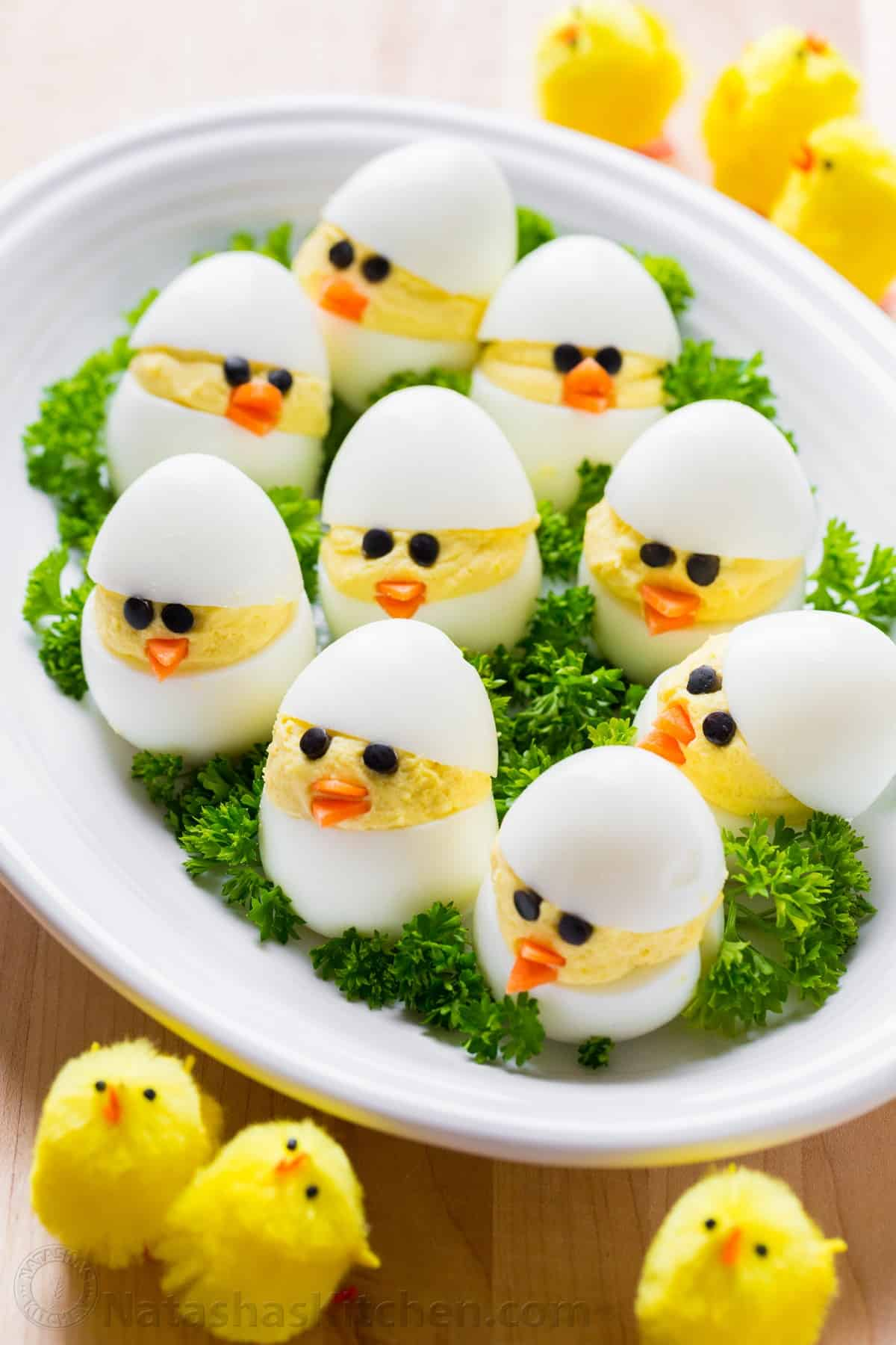 Easter Egg Recipe Deviled Egg Chicks Natashaskitchen Com