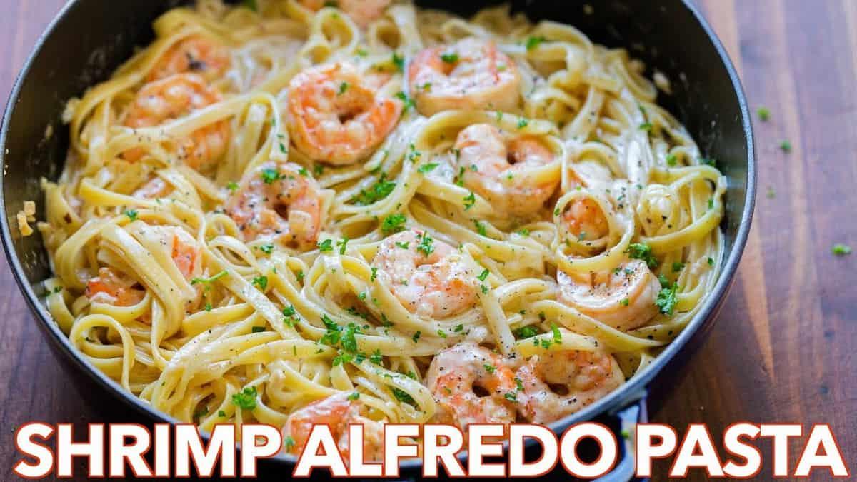 Italian Foods Near Me: Creamy Shrimp Pasta Recipe (VIDEO)