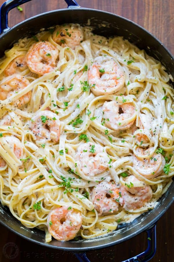 Creamy Shrimp Pasta Recipe Video
