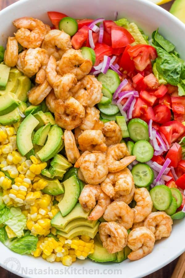 Avocado Shrimp Salad Recipe With Cajun Shrimp And The Best Flavors Of Summer The Cilantro