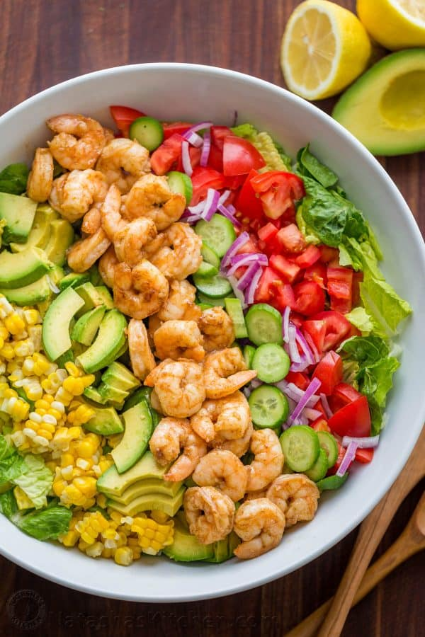 Avocado Shrimp Salad Recipe Video Natashaskitchen Com