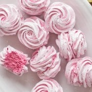 Zephyr is a Russian homemade marshmallows recipe - so fluffy with amazing blackberry flavor, and they melt in your mouth. How to make homemade marshmallows! | natashaskitchen.com