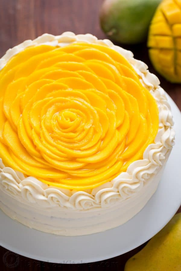 Mango Cake Recipe (VIDEO) - NatashasKitchen.com