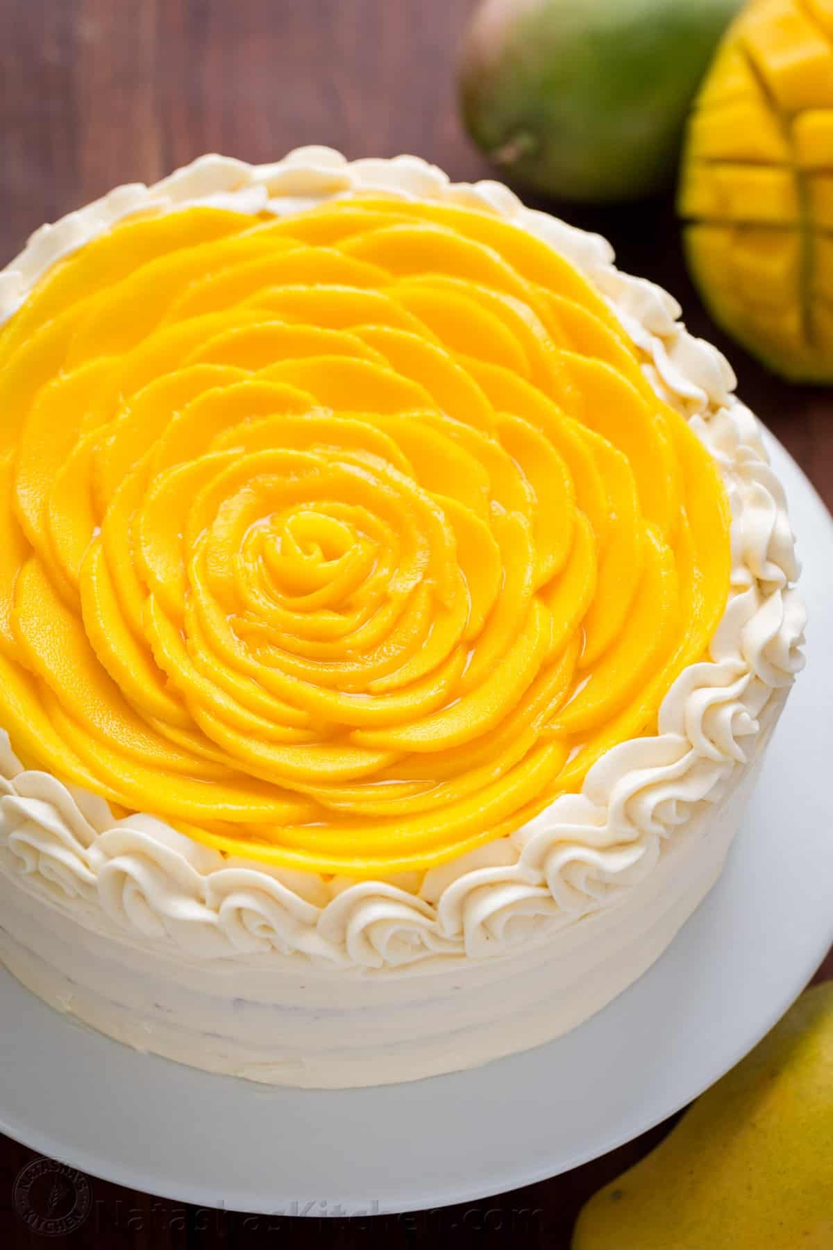 Images For Mango Cake : Mango Cake Recipe (VIDEO) - NatashasKitchen.com