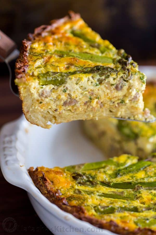 of this Sausage Asparagus Quiche is pure comfort. This classic quiche ...