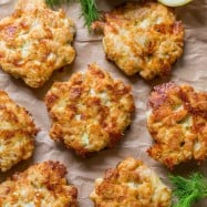 Cheesy Chicken Fritters always get glowing reviews. If you love easy chicken recipes, this is your recipe! Easy, juicy, flavorful cheesy chicken fritters aka chicken patties! | natashaskitchen.com