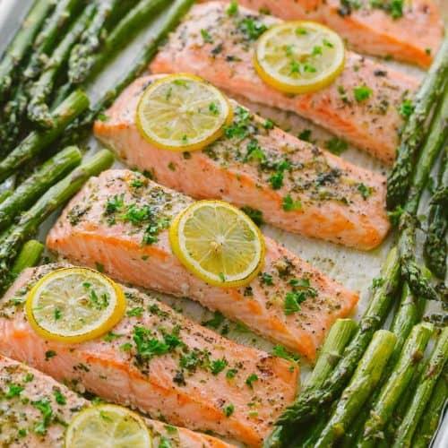 One-Pan Salmon Asparagus Recipe (VIDEO)