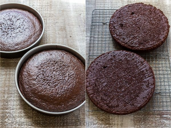 This chocolate cake recipe is soft, fluffy, moist and so chocolatey. How to make the best chocolate cake (step-by-step photos). Our go-to chocolate cake! | natashaskitchen.com