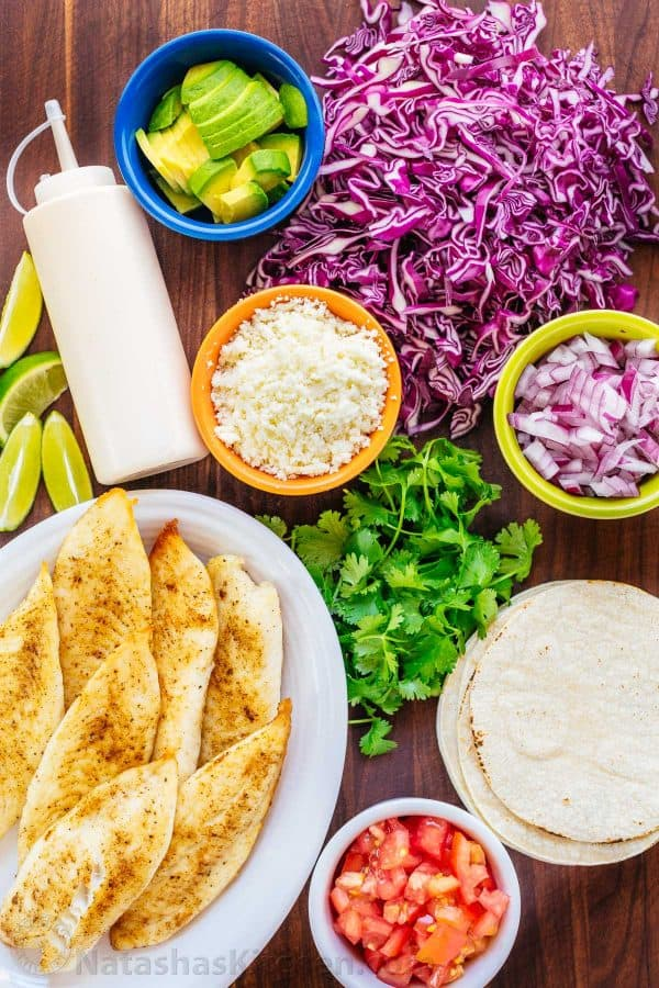 Fish tacos recipe with best fish taco sauce for White fish tacos