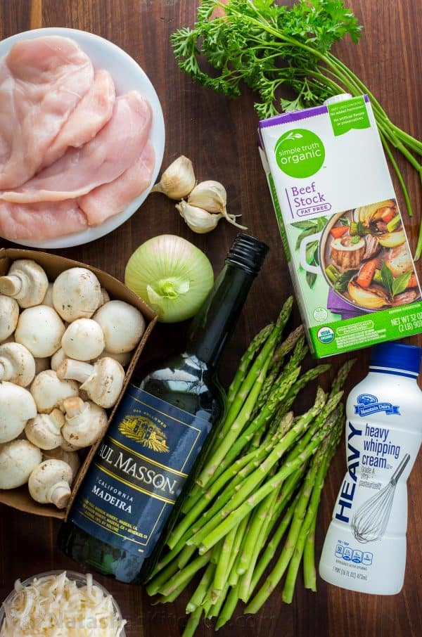 Ingredients for how to make chicken madeira and substitute for madeira wine