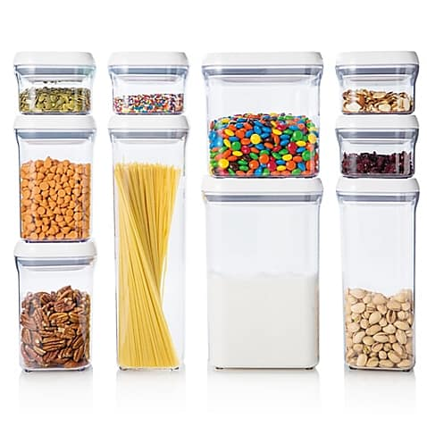 Clear 10 piece organizing containers