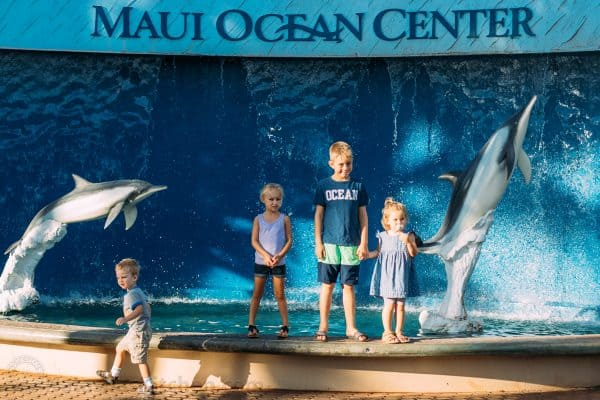 A group of children at the Maui Ocean Center