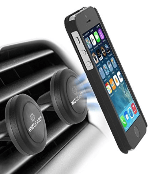 A magnetic attachment that attaches the phone to your car