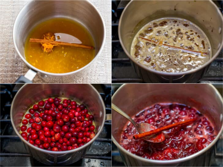 Step by step how to make cranberry sauce